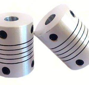 2 Pezzi 6.35x8 Size Motore Alluminio flexible coupling Coupler