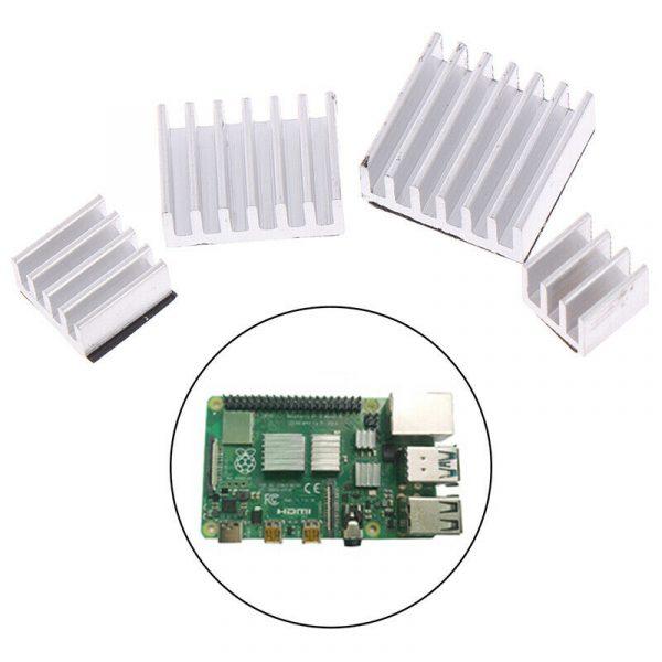 Dissipatori di calore in alluminio per Raspberry Pi 4B con Adesivo