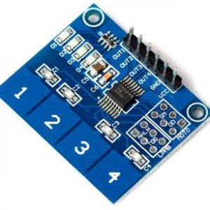 TTP224 Modulo sensore tattile digitale a 4 vie con interruttore tattile capacitivo per Arduino