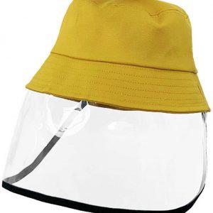 Cappello da pescatore rimovibile antischiuma GIALLO BAMBINO